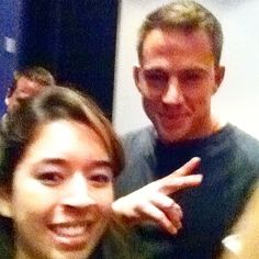 Senior Editor Kaitlin Cubria with Channing Tatum