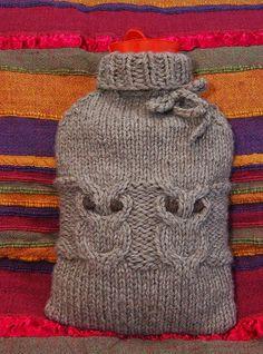 Ravelry: Hoot Water Bottle Cozy pattern by Robyn Wade Owl Knitting Pattern, Knitting Patterns Free, Free Knitting, Baby Knitting, Crochet Patterns, Vest Pattern, Free Pattern, Owl Patterns, Embroidery Patterns Free