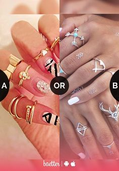 Which Rings suit your style #gold or #silver?  Vote on Baetter App.