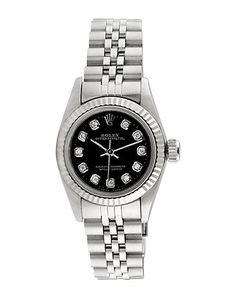 Rue La La — Rolex 1990 Women's Oyster Perpetual Diamond Watch