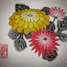 Japanese Flower Tattoo, Japanese Flowers, Japanese Art, Rose Flower Tattoos, Flower Tattoo Designs, Crisantemo Tattoo, Flora Vector, Japanese Floral Design, Peony Drawing