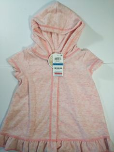 176229f35f First Impressions Baby Girls Hooded Sweater Dress Short-Sleeve 24M-Pink   fashion