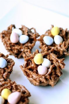 Scotch a roo nests recipe-chocolate, peanut butter and butterscotch- calls for chow mein, but would work with pretzels too