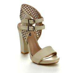 Pazzle Helen-01 Women's Open Toe Ankle Strap Platform Heels