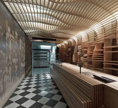 オーストラリアの建築事務所MARCH STUDIOがデザインしたメルボルンのベーカリーショップBAKER D. CHIRICO