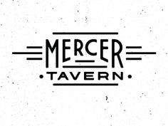 Mercer Tavern logo. The treatment of the E's in Mercer is excellent.