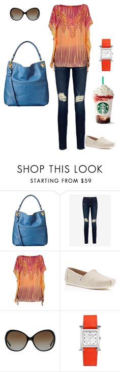 """Flea Market Browsing"" by disfan ❤ liked on Polyvore featuring Orla Kiely, Frame, Hale Bob, TOMS, Michael Kors and Hermès"
