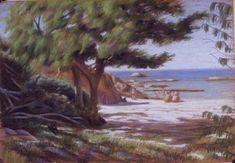 The little cove 35x52cm Seascape Paintings, Landscape Paintings, Painter Artist, Classic Paintings, Sunshine Coast, Australian Artists, Figure Painting, Figurative, Gallery