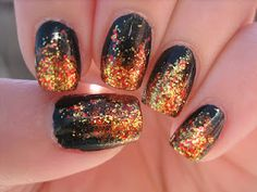 The Hunger Games, Girl On Fire nail art  Katniss' nails before she went into the arena