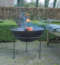 Our Kadai Fire Bowls & Large Fire Pits create a romantic atmosphere, perfect for summer evening on the patio heater with Free Delivery available at The Farthing. Outdoor Heaters, Patio Heater, Steel Fire Pit, Fire Pits, Fallen Fruits, Large Fire Pit, Fire Bowls, Garden Living, Brighton
