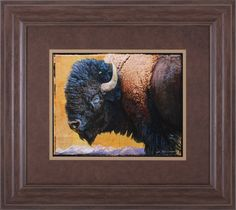 Bison Portrait III by Chris Vest Framed Painting Print