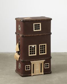 atavus: Suitcases Turned into Miniature Homes by... | books, paper, scissors