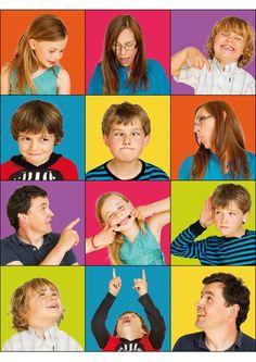 Family photo ideas: create a multi-frame photo grid for a fun family portrait montage!
