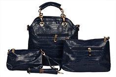COMBO OFFER (BUY 1 GET 2 FREE) BH Wholesale Market Designer, Imported & Fashionable, New Arrival PU Leather Shoulder, Hand Bag & Formal Office bag For Women (Black) Upto 80% Discount at DealsPricer India