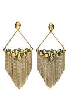 AURÉLIE BIDERMANN-Cites d'or earrings