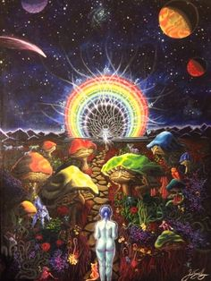 psychedelic, acid, and trip image Psychedelic Art, Sacred Plant, The Doors Of Perception, Psy Art, Mushroom Art, Visionary Art, Trippy, Illustration Art, Spirituality