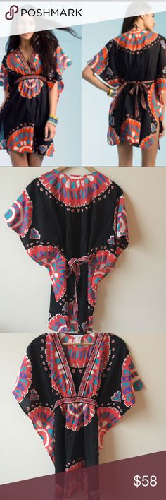 Trina Turk Yucateca Tunic Cover Up | medium Trina Turk Yucateca Tunic cover up. Perfect for your fall/winter getaway. Made from cotton and silk blend. Perfect like new condition! Size medium Trina Turk Swim Coverups