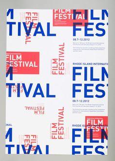 Flyer / rhode island international film festival - PPT design inspiration