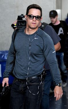 Mark Wahlberg  - Cool, ummmm, ... Nike shirt :)