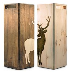 Wooden Packaging...I like the idea of having a few deer things to bring in a manly touch he would like and to go with the deer that I know I will have to display!