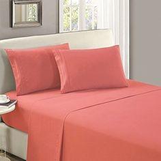 Dorm Room Twin Top Sheet Flat Hypoallergenic Microfiber Soft Comfort Bedding #DormRoomTwinTopSheet