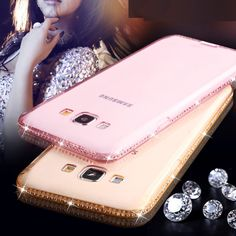 Luxury bling berlian transparan case untuk samsung galaxy a3 a5 a7 2017 2016 Tepi J5 J7 2016 S8 S6 S7 Ditambah Penutup Silicone Capa