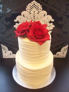 Butter Cream Wedding Cake Auckland $400 caters for 70 coffee serves. Rustic Wedding Cake Auckland.