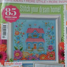 My house sampler for Cross Stitcher magazine. Tapestry Design, Dreaming Of You, Cross Stitch, Magazine, Embroidery, My Favorite Things, Artwork, House, Punto De Cruz