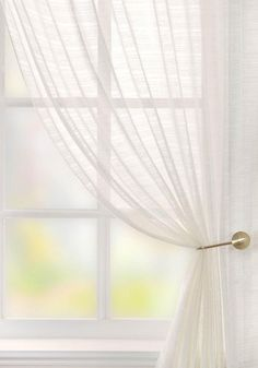 The Lucerne voile curtain panel in white is a delicate window treatment with a fabric with a slight slub. We have an amazing range of voiles at Terrys Fabrics. Voile Curtains, Hanging Curtains, Panel Curtains, Scarf Curtains, Valance, Lucerne, Voile Panels, Window Types, Bathroom Windows