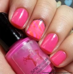 Shinespark Polish Pumped Pink - bright pink neon creme that water marbles!