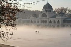 Europe's most gorgeous outdoor ice skating rink is in the Budapest's City Park. You can hire skates. Great program with kids as well. Outdoor Rink, Outdoor Ice Skating, Outdoor Venues, Budapest City, Budapest Hungary, Budapest Winter, Visit Budapest, Beautiful Sites, Most Beautiful Cities