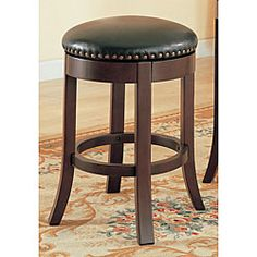 Cherry 24-inch Counter Swivel Stools (Set of 2)