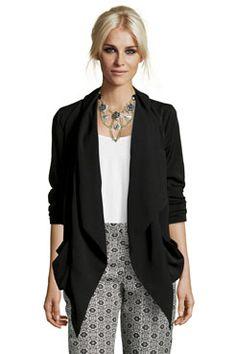 Boutique Diane Drop Front Waterfall Jacket #plussizeplease