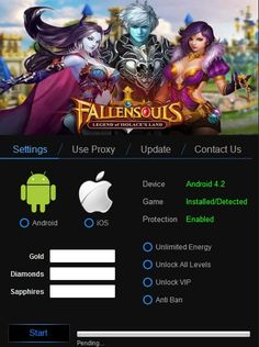 Fallen souls Hack Tool No Survey download 4 android, ios,. Get Fallen souls hack ifunbox cheats engine & add infinite coins, gold & gems.