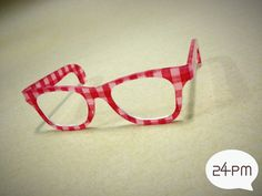 Red Scot Glasses  Nerd style by 24PM on Etsy, ฿415.34