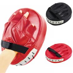 Open-Minded Pro Box Leather Focus Punch Paddles Boxing Pad Mma Strike Mitt Coaching Training Sporting Goods Boxing, Martial Arts & Mma