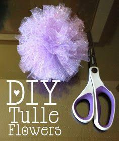 Ashley Thunder Events: Mom Mondays: DIY Tulle Flowers