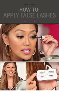 How-to apply false lashes! Mally Roncal shares her tips and tricks to applying them properly so that they look natural!
