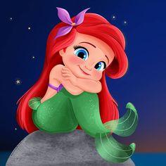 Ariel - The Littlest Mermaid 2019 by artistsncoffeeshops on DeviantArt Mermaid Wallpaper Iphone, Ariel Wallpaper, Little Mermaid Wallpaper, Mermaid Wallpapers, Cute Disney Wallpaper, Ariel Disney, Disney Little Mermaids, Ariel The Little Mermaid, Baby Disney