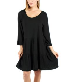 Another great find on #zulily! Black Ruffle Dress #zulilyfinds