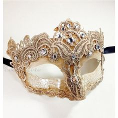 Venetian Goddess Masquerade Mask Made of Resin, Paper Mache Technique... ❤ liked on Polyvore featuring home, home decor, mask and masquerade masks
