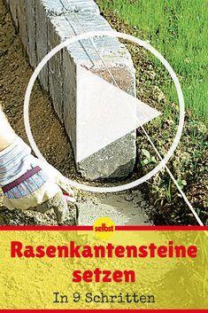 Ein gepflasterter Weg braucht Rasenkantensteine, damit der Übergang zum Beet oder Rasen dauerhaft stabil bleibt! #video #videotutorial #garten #rasen #selbst
