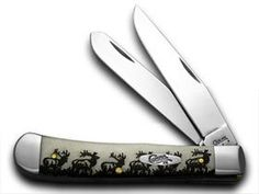 CASE XX Natural Bone Elk Trapper 1/500 Pocket Knife Knives -- Details can be found by clicking on the image.
