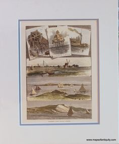 Finistere 1878 Old Antique Vintage Map Plan Chart Strong Packing Art Prints Cheap Price FinistÈre Art