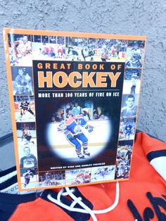 Hockey Reference Book History of Hockey Hardcover Book Vintage Hockey Photos The Great One NHL Ice Hockey Collectors Book Color Photos by BarbaraAnnsCreations on Etsy