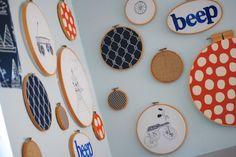 Making Lemonade - embroidery hoop art