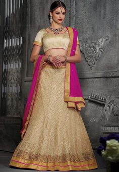 #Chickoo #Soft #Net #Semi #Stitch #Lehenga with #Choli And #Dupatta.  #Chickoo #Soft #Net #flared #Semi #Stitch #lehenga #designed #with #Heavy #Zari,#Resham #Embroidery With #Stone #Work And #Butta #Work With #Lace #Border.  INR: 2,971.00  With Exclusive Discount  Grab: http://tinyurl.com/hr8gvsu