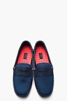 SWIMS Navy blue water resistant Penny Loafers