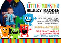 Download Now Monster Birthday Party Invitations Ideas