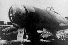 "View of the first ""LOTFE-Bombers"" Me 262 A2/U2,   Prod.-No. 110484 with two SC250."